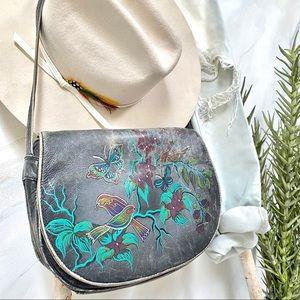 💠HANDPAINTED-stunning rare vintage BOHO bag